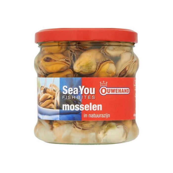 SeaYou Fish Bites, Mosselen in natuurazijn (Stuk, 355g)