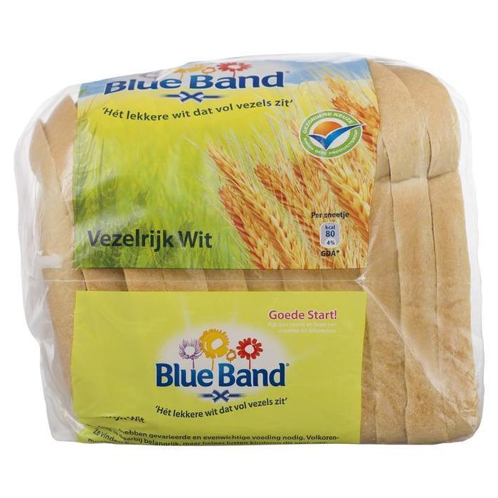 Witbrood half met toegevoegde vitaminen, mineralen en vezels tot het gehalte van volkorenbrood (400g)