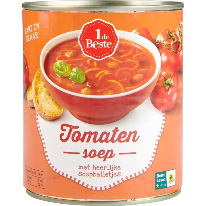 1 de Beste Tomatensoep 800 ml Blik (0.8L)