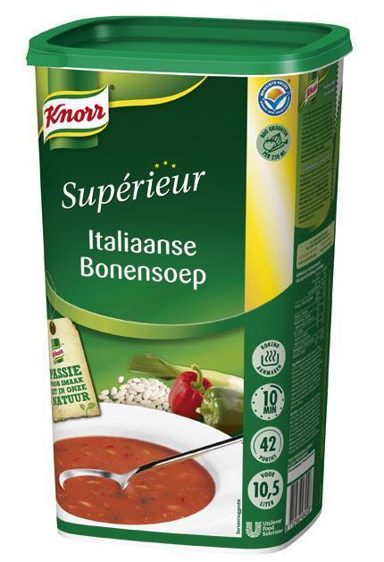 Knorr Supérieur Italiaanse Bonensoep (fles, 6 × 1kg)