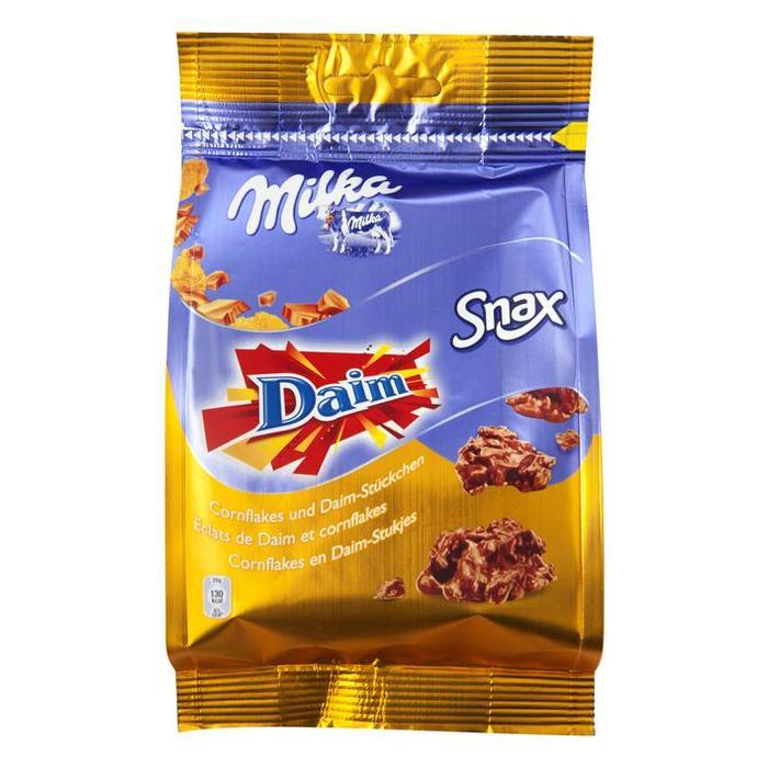Snax cornflakes en Daim-stukjes (zak, 145g)