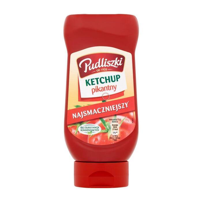 Pudliszki Ketchup pikant (fles, 480g)