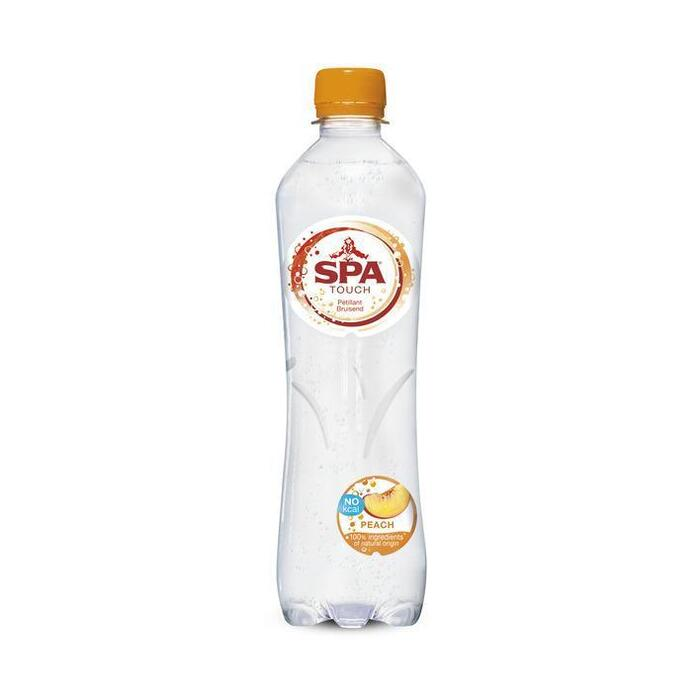 Spa bruisend mineraalwater Perzik (Touch Of Peach) 50cl (rol, 50 × 0.5L)