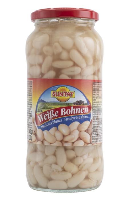 Baktat witte bonen 580 ml. (540g)