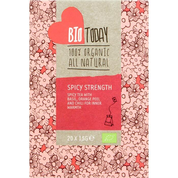 Bio Today Spicy strength thee (zakjes, 20 × 1.5g)