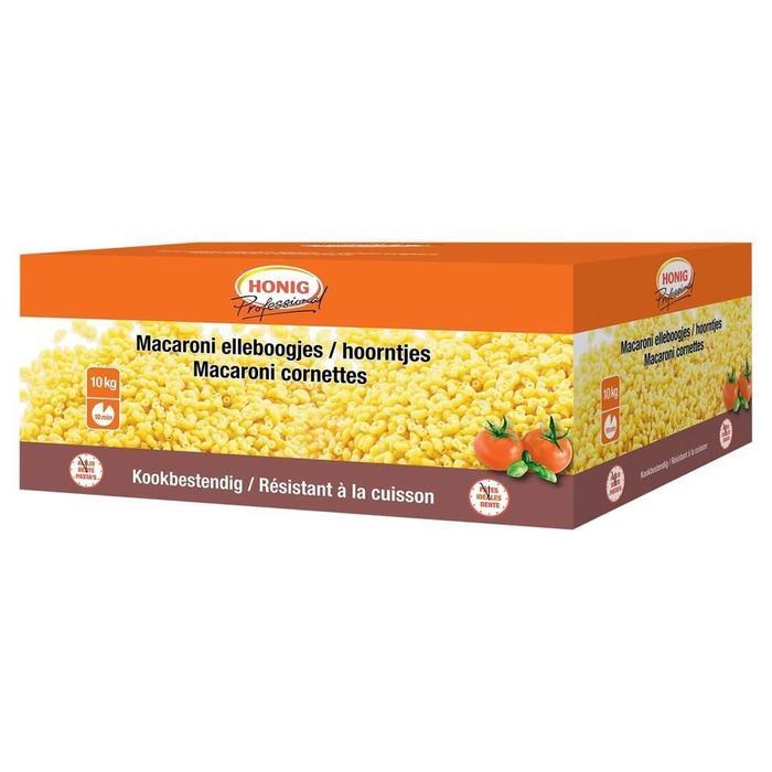 Honig Professional Droge Deegwaar Macaroni Elleboogjes / Hoorntjes 2 x 5 kg Doos (2 × 5kg)
