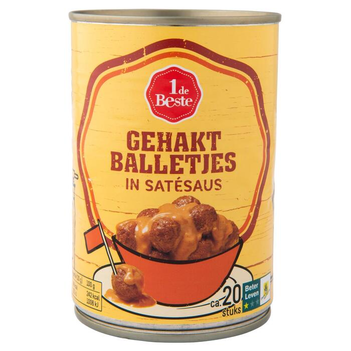 Gehaktballetjes in satesaus (420g)
