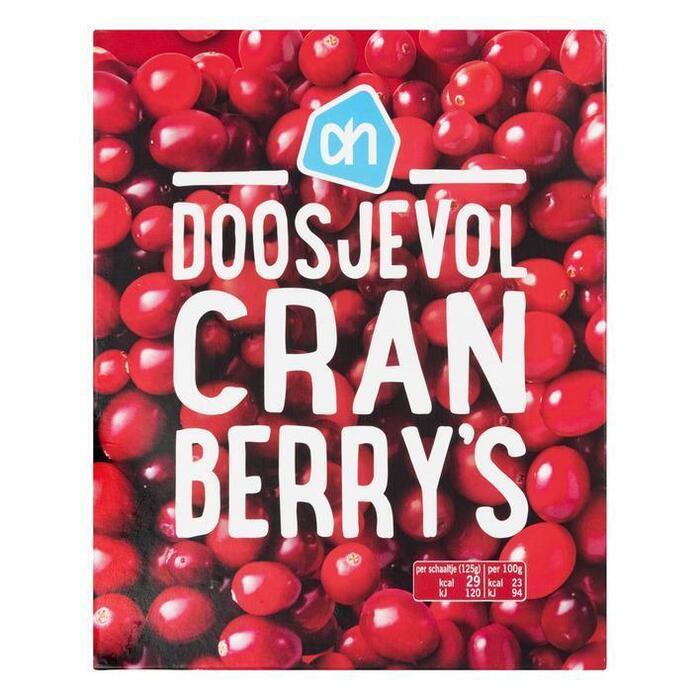 Doosjevol Cranberry's (doos 450g) (250g)