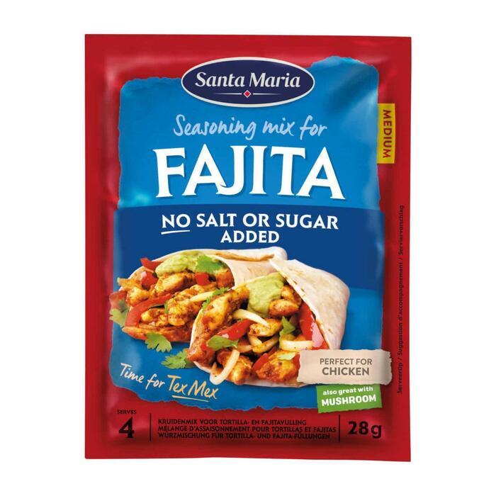 Santa Maria Fajita Kruidenmix geen zout toegevoegd 25 g (25g)