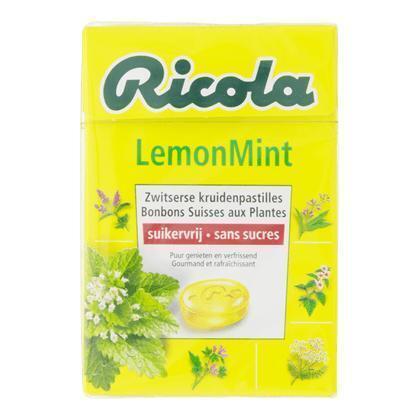 Ricola Lemon mint box (suikervrij) (50g)