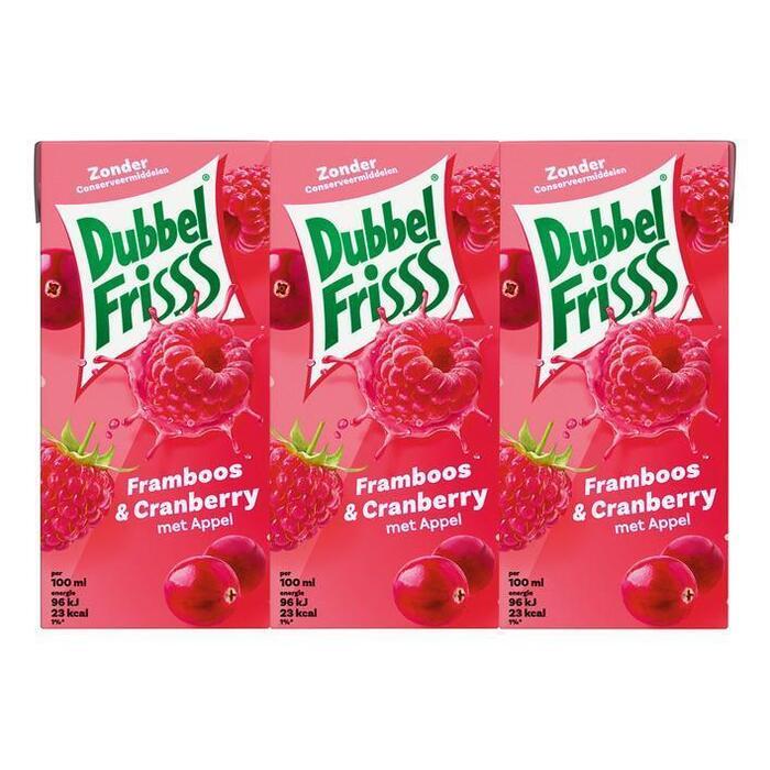 Dubbel Frisss Framboos & Cranberry (kartonnenpak, 6 × 200ml)