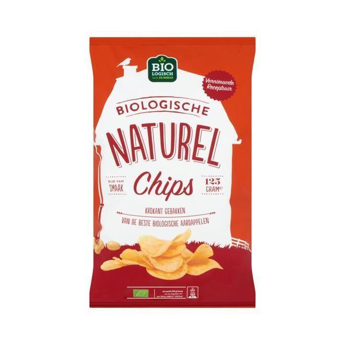 Jumbo Biologische Naturel Chips 125 g (125g)