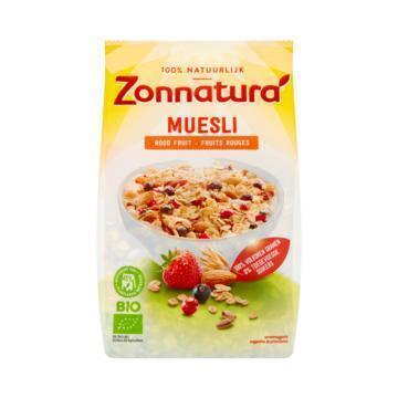 Zonnatura Muesli rood fruit (375g)