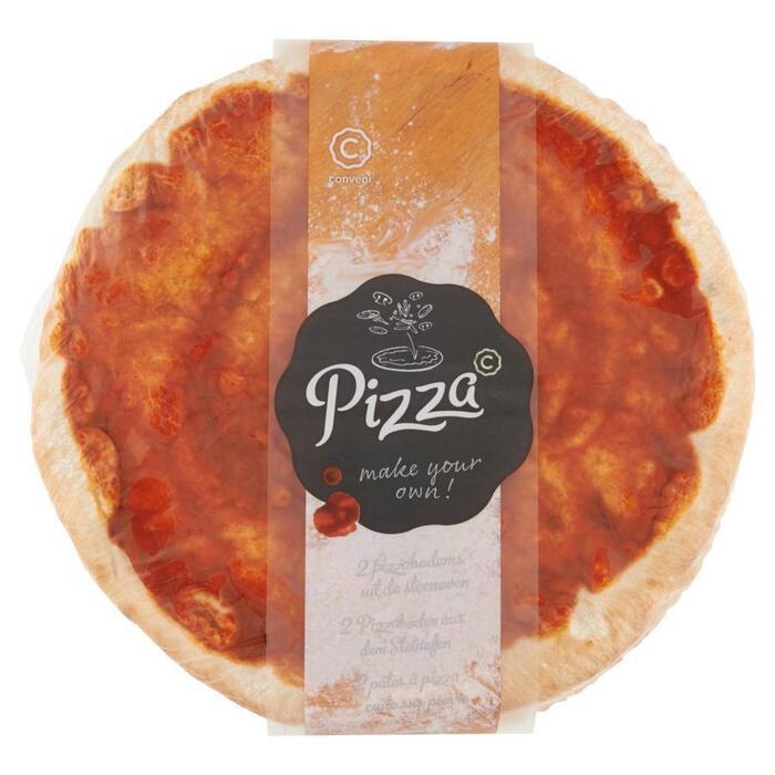 Conveni 2 Pizzabodems uit de Steenoven 560 g (Stuk, 500g)