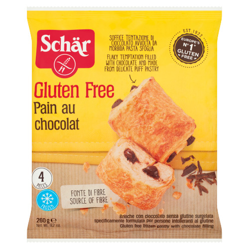 Schär Gluten Free Pain au Chocolat 4 Stuks 260 g (260g)