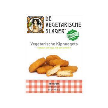 De Vegetarische Slager Vegetarische Kipnuggets 180 g (doos, 180g)