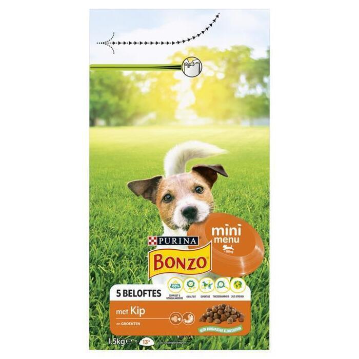 Bonzo Vitafit Mini Menu met Kip en Groenten 1, 5kg (1.5kg)