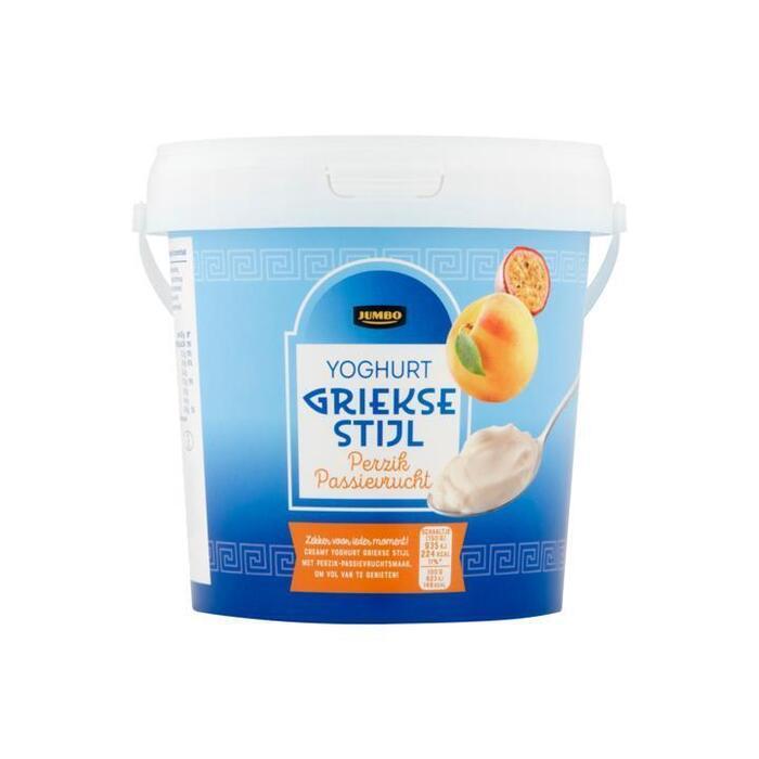 Jumbo Perzik Passie Yoghurt Griekse Stijl 1kg (1kg)