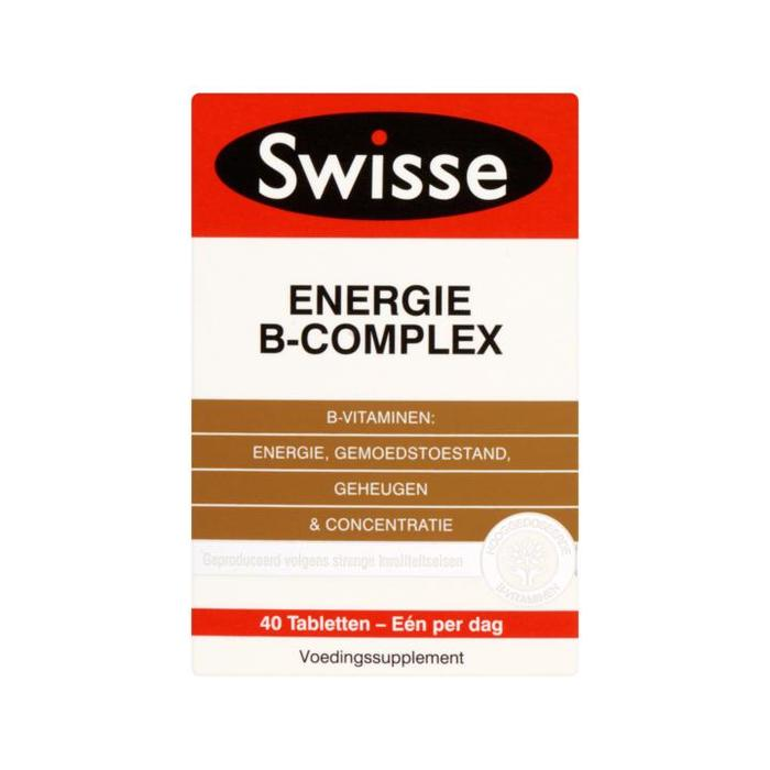 Swisse ENERGIE SUPPLEMENTS Energie B-Complex 40ct (tabletten)