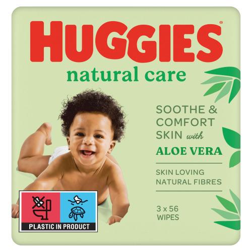 Huggies Baby doekjes natural care 2+1