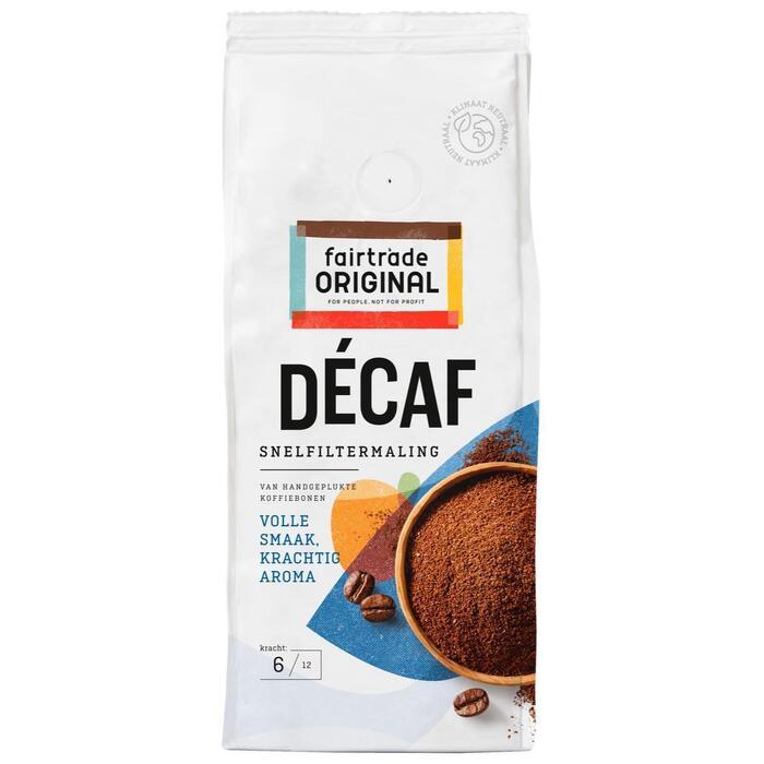 Fair Trade Original Décaf koffie snelfiltermaling (pak, 250g)