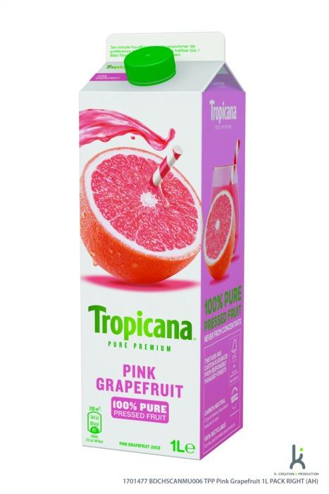 Tropicana Pink grapefruit (pak, 1L)