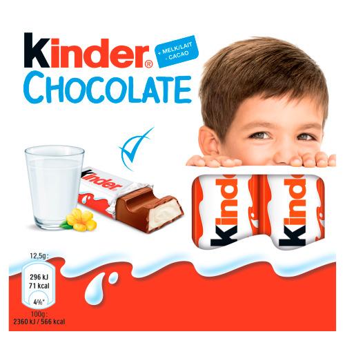Kinder Chocolate 4 Reepjes 50 g (50g)