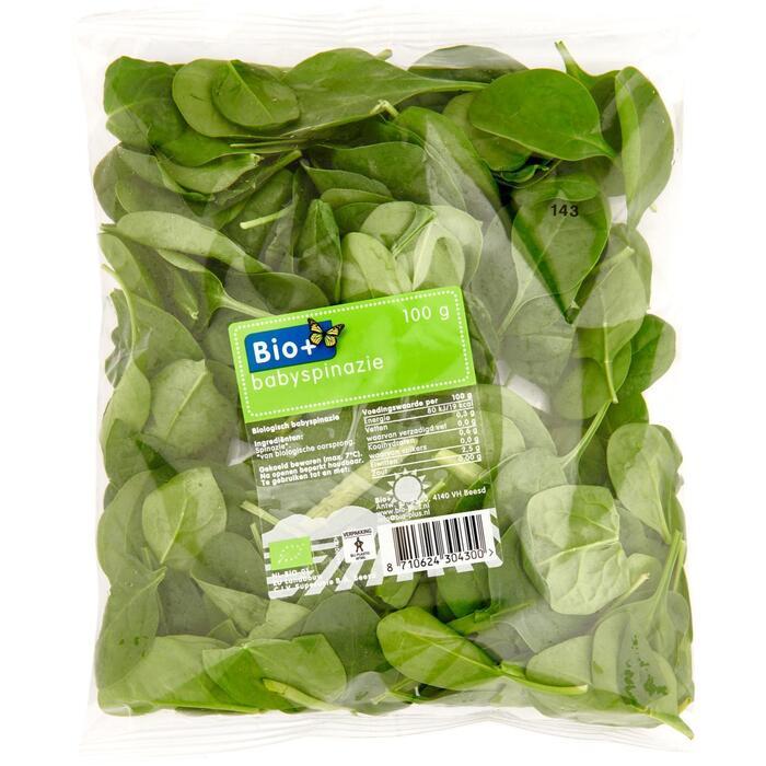 Biologische baby spinazie (100g)