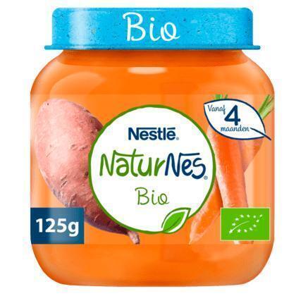 NaturNes Zoete aardappel wortel 4+ m babyvoeding (125g)