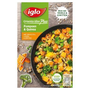 IGLO diepvries GROENTEN Groente-Idee Plus Pompoen & Quinoa 400 GRM doos (400g)