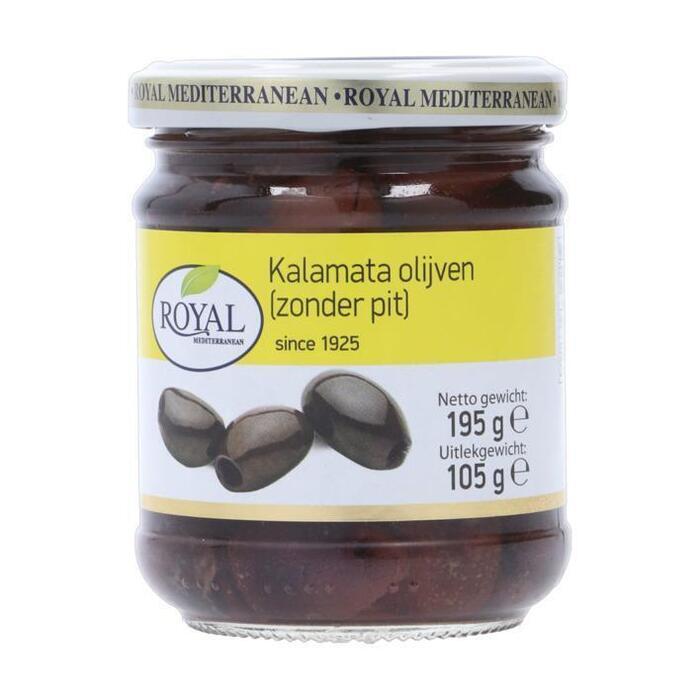 Royal Kalamata olijven zonder pit (185g)
