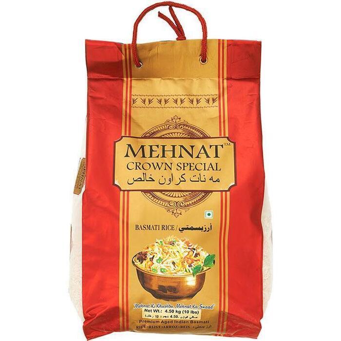 Mehnat Crown Special Premium Indian Basmati Rijst 4,5 kg (4.5kg)
