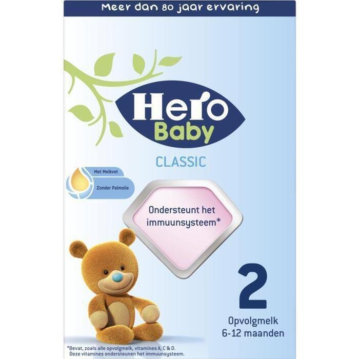 HERO BABY  Zuigelingenvoeding Standaard 2 2x350g Doosje (700g)