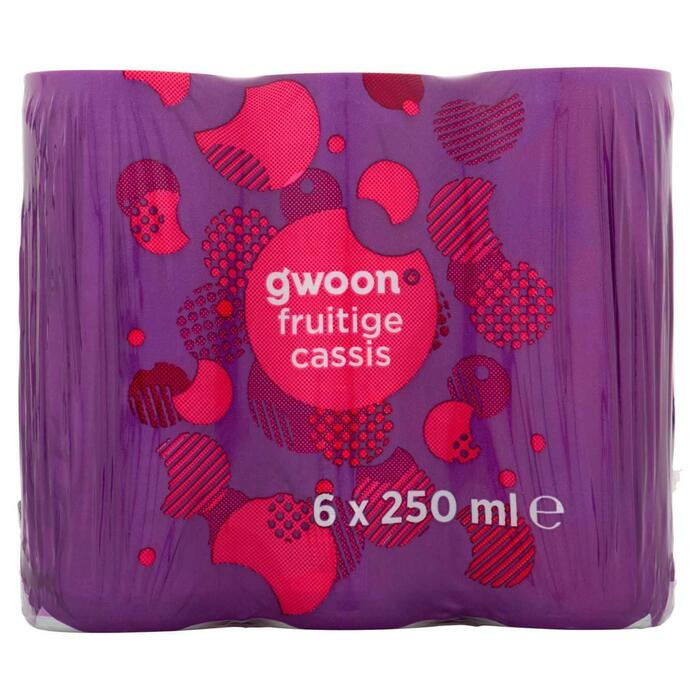 g'woon Cassis blik 6 x 25 cl (250ml)