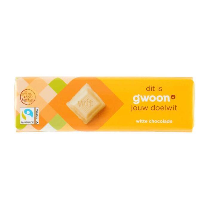 g'woon Chocoladereep wit (100g)