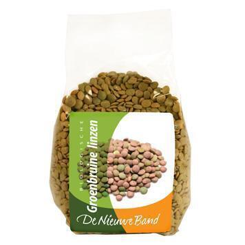 De Nieuwe Band, Groen-bruine linzen (zak, 500g)