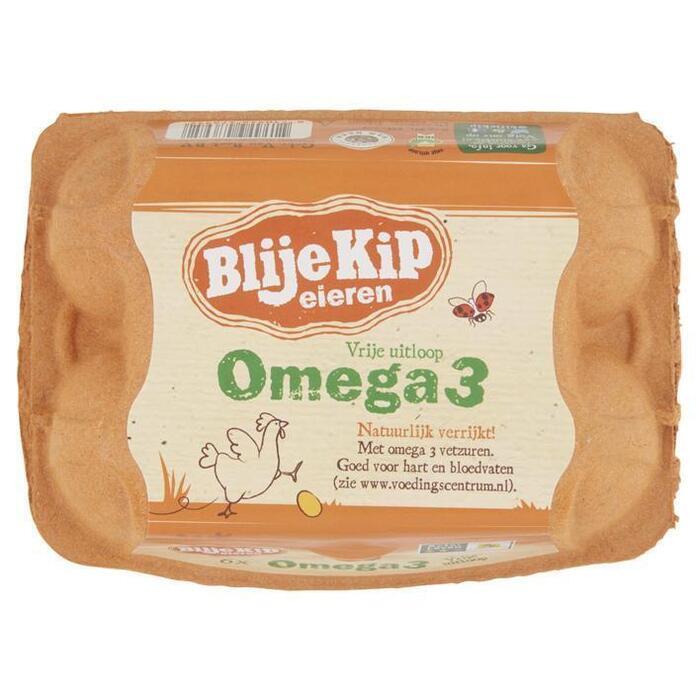Omega 3 vrije uitloop eieren (doos, 6 st.)