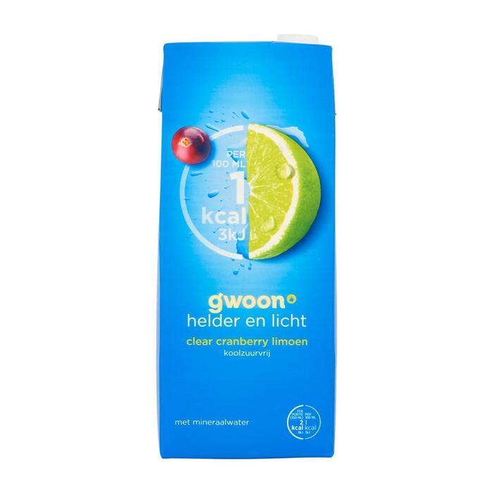 g'woon Clear cranberry limoen koolzuurvrij (1.5L)