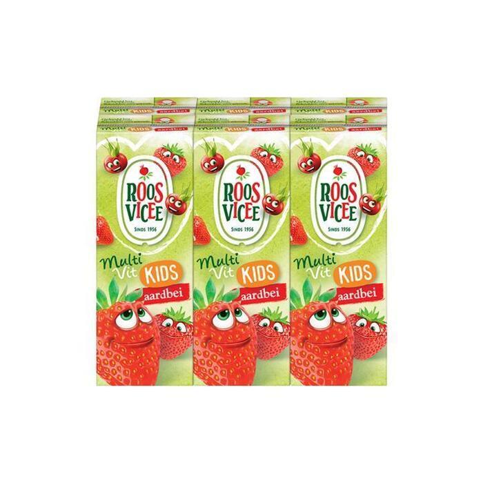 Roosvicee Fruitig drankje aardbei mini pak 6 x 20 cl (6 × 200ml)