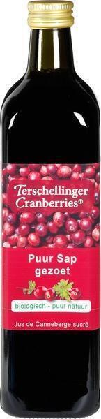 Terschillinger, Cranberrysap (appel)gezoet glas, 0.75L)