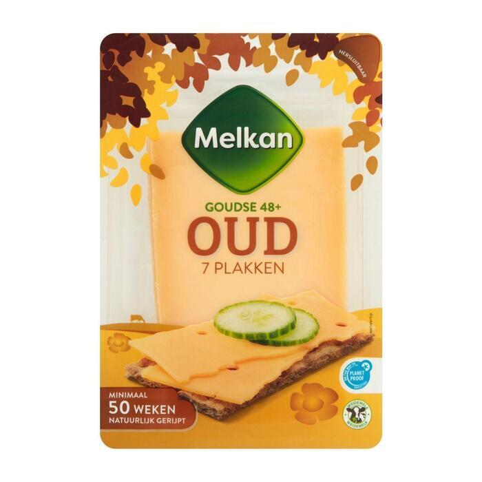 Melkan Kaas plakken oud 48+ (190g)