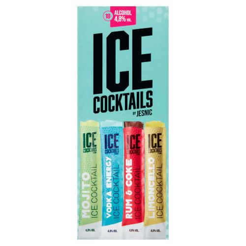 JESNIC ICE Cocktails Mojito, Vodka Energy, Rum & Coke, Limoncello 4 x 65 ml