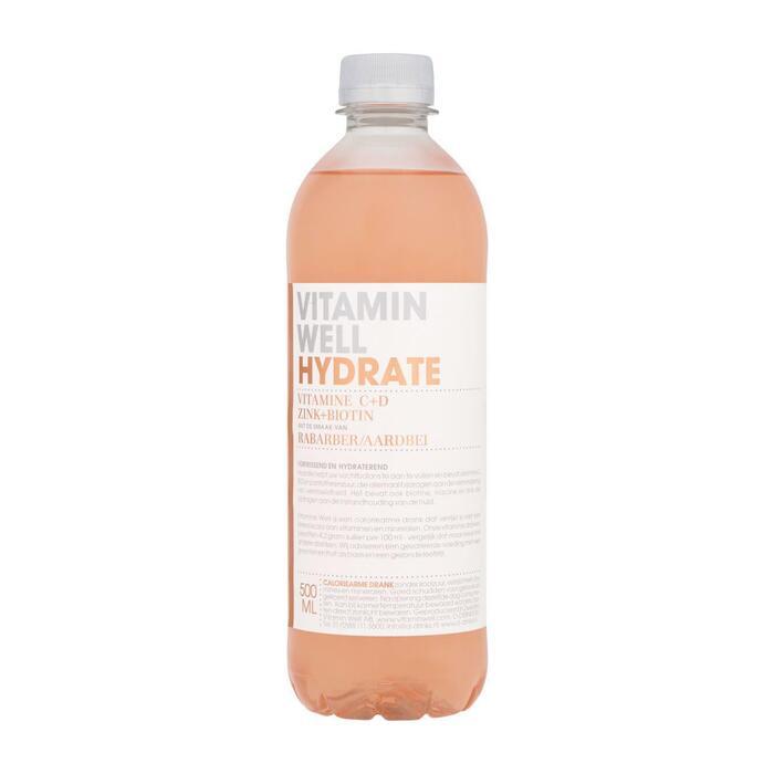 Vitamin Well Hydrate Rabarber/Aardbei 500ml (0.5L)