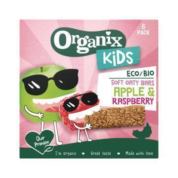 Organix Soft oaty bars apple & raspber kids (180g)