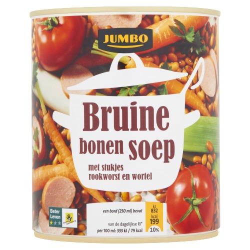 Jumbo Bruine Bonensoep met Stukjes Rookworst en Wortel 800ml (0.8L)
