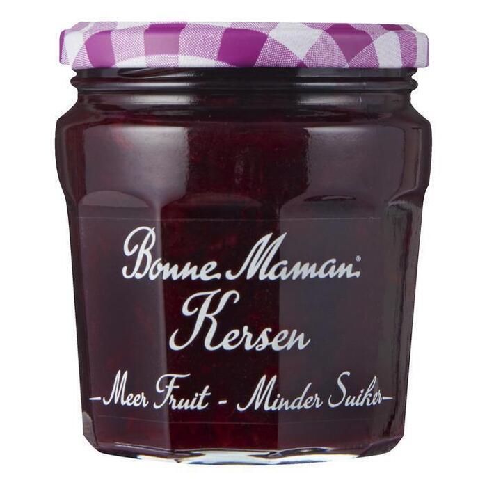 Bonne Maman Meer fruit minder suiker kersen jam (335g)
