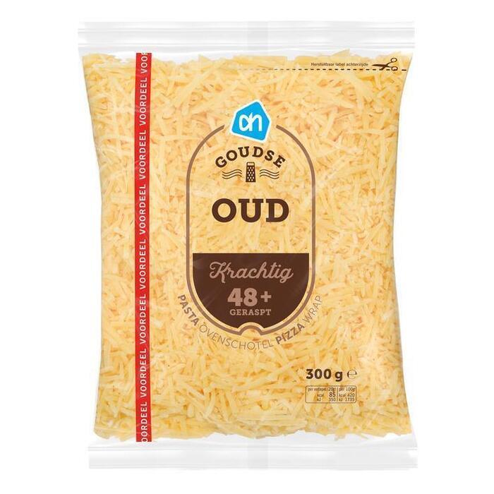 Goudse oude kaas 48+ gemalen voordeel (300g)