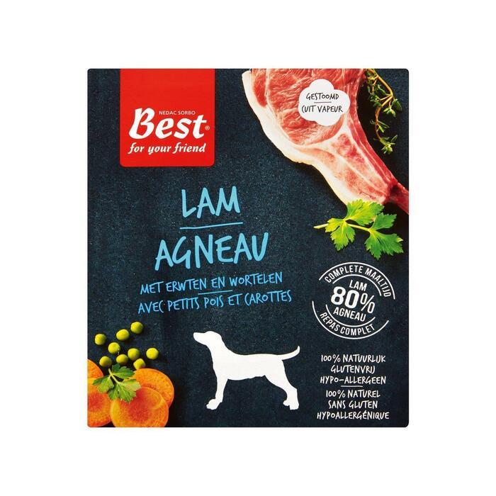 Best For Your Friend Vers Gestoomd Lamsvlees met Erwten Wortelen 395g (395g)