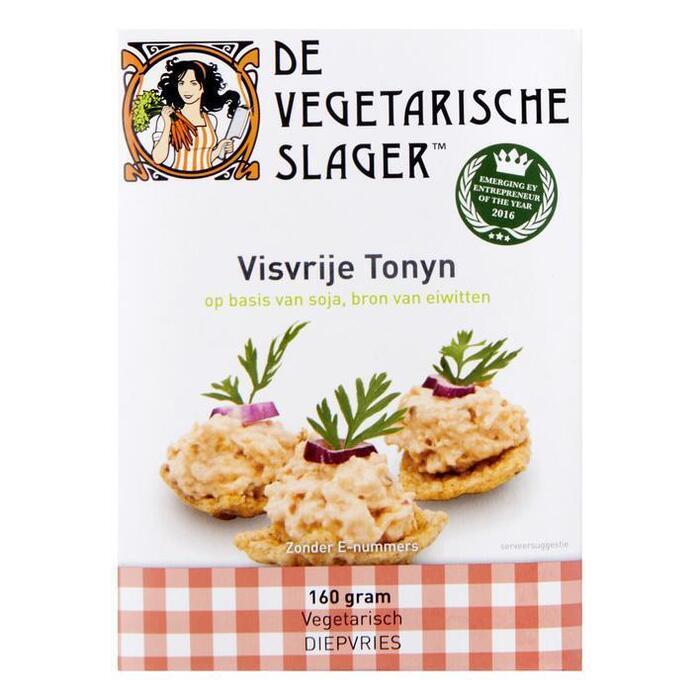 De Vegetarische slager, Visvrije Tonyn (doos, 2 stuks) (160g)